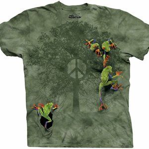 The Mountain Frog Peace Tree Roots T-Shirt S-3X